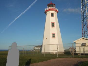 プリンス・エドワード島の西側、最北端にあるノースケープ灯台。