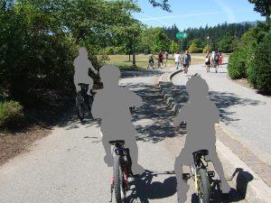 スタンレーパークのサイクリング。