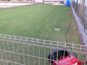 芝刈り開始。