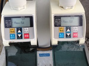 2台並んだタカギの「かんたん水やりタイマー」。