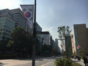 韓国の街。